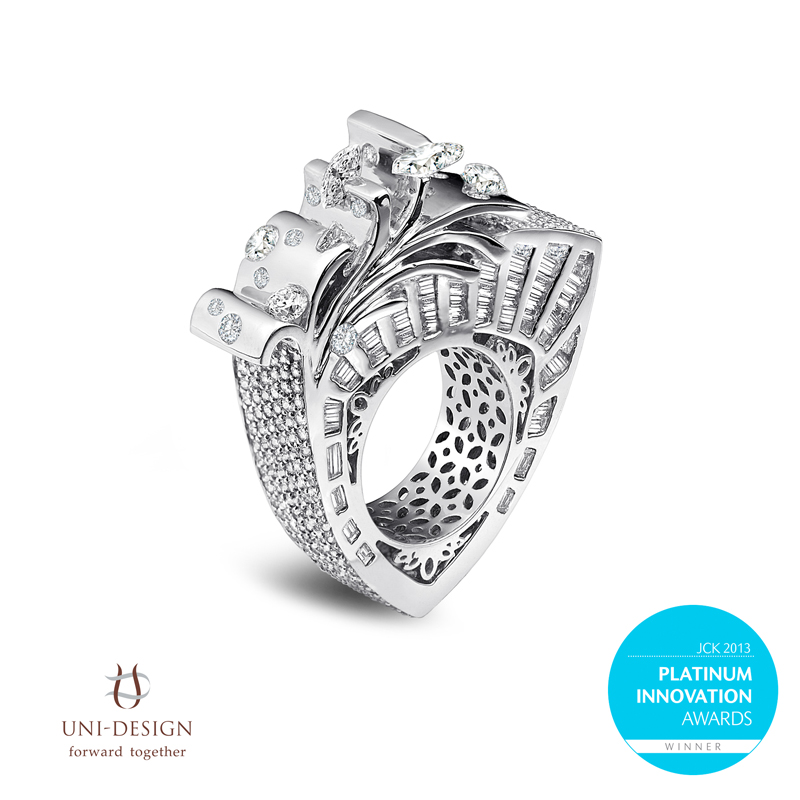 Award winning platinum jewellery Award winning design