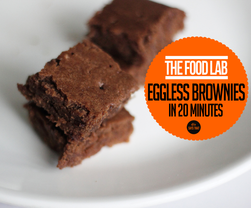 EGGLESS BROWNIES IN 20 MINUTES