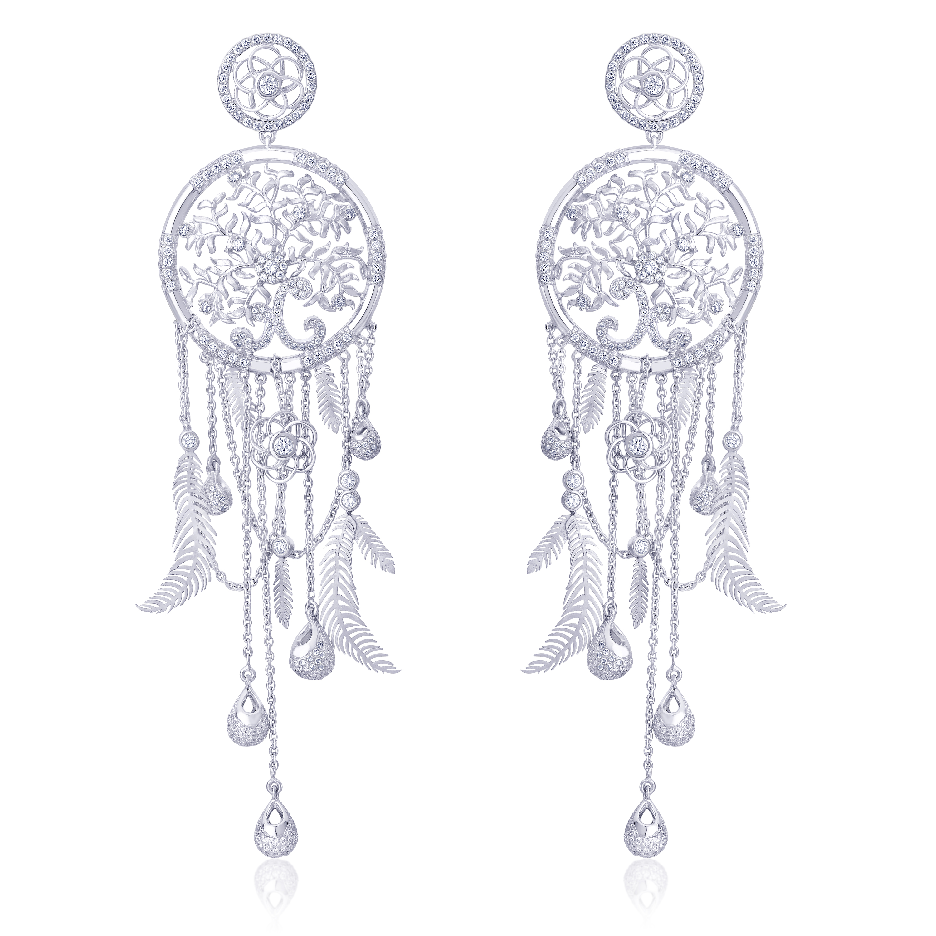 Dream Catcher Earrings crafted in Eternal platinum by ORRA   (2) (1)